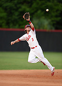Lake Mary Rams shortstop Brendan Rodgers (3) catches a line drive for the out during a game against the Lake Brantley Patriots on April 2, 2015 at Allen Tuttle Field in Lake Mary, Florida.  Lake Brantley defeated Lake Mary 10-5.  (Mike Janes Photography)