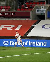 26 February 2021; John Cooney runs in to score during the Guinness PRO14 match between Ulster and Ospreys at Kingspan Stadium in Belfast. Photo by John Dickson/Dicksondigital