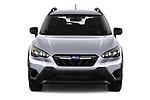 Car photography straight front view of a 2021 Subaru Crosstrek - 5 Door SUV Front View