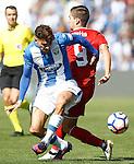 CD Leganes' Carl Madjani (l) and Sevilla FC's Luciano Vietto during La Liga match. October 15,2016. (ALTERPHOTOS/Acero)