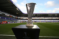 La Coppa <br /> The Europa League Trophy before the UEFA Europa League Quarter Final first leg match between Anderlecht and Manchester United at Constant Vanden Stock Stadium on April 13th 2017 in Anderlecht, Belgium.  Trophee<br /> Bruxelles 13-04-2016 <br /> Anderlecht - Manchester United Europa League <br /> Foto Panoramic / Insidefoto <br /> ITALY ONLY