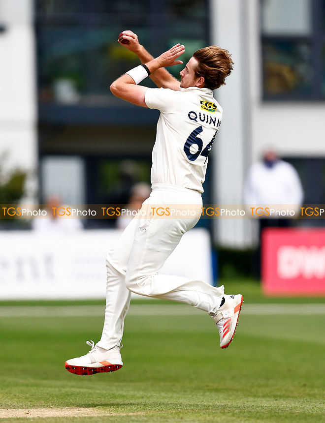 Matt Quinn bowls for Kent during Kent CCC vs Sussex CCC, LV Insurance County Championship Group 3 Cricket at The Spitfire Ground on 13th July 2021