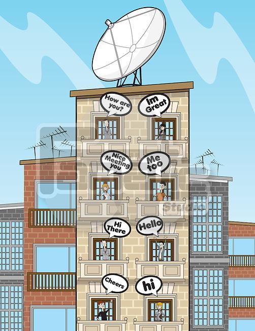 Illustrative representation of social communication