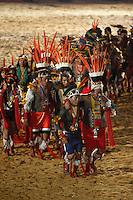 Durante 9 dias 1.800 atletas indígenas: 1.100 de etnias brasileiras e 700 de etnias internacionais participam dos I Jogos Mundiais dos Povos Indígenas, em Palmas no Tocantins entre os dias 23 a 31 de outubro. Diversas modalidades como arco e flecha, arremesso de lança, cabo de força, canoagem, corrida com tora, corrida de resistência (10km), corrida de velocidade (100m), futebol, lutas corporais, natação e canoagem serão disputados pelos participantes, além de esportes e jogos tradicionais específicos de cada etnia que serão apresentados.<br /> <br /> Palmas, Tocantins, Brasil.<br /> Foto Haristélio Sérgio/Acervo h<br /> out/2015