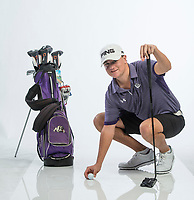 NWA Democrat-Gazette/BEN GOFF @NWABENGOFF<br /> Denver Davis of Fayetteville, boys golf player of the year, poses for a photo Wednesday, Nov. 28, 2018, at the Northwest Arkansas Democrat-Gazette studio in Springdale.