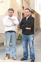 Michel Escande and his son Gabriel Domaine Borie de Maurel. In Felines-Minervois. Minervois. Languedoc. Owner winemaker. France. Europe.