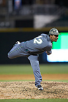 Charlotte 49ers relief pitcher Carson Pinkney (32) in action against the Wake Forest Demon Deacons at BB&T BallPark on March 13, 2018 in Charlotte, North Carolina.  The 49ers defeated the Demon Deacons 13-1.  (Brian Westerholt/Four Seam Images)