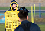 St Johnstone Training…19.12.18<br />Murray Davidson pictured during training at McDiarmid Park ahead of Sunday's game against Rangers<br />Picture by Graeme Hart.<br />Copyright Perthshire Picture Agency<br />Tel: 01738 623350  Mobile: 07990 594431