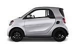 Car driver side profile view of a 2017 Smart fortwo prime 3 Door micro car