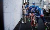 Bjorn Leukemans (BEL/Wanty-Groupe Gobert) signing in<br /> <br /> 99th Ronde van Vlaanderen 2015