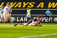 22nd November 2020; Ricoh Arena, Coventry, West Midlands, England; English Premiership Rugby, Wasps versus Bristol Bears; Siale Piutau of Bristol scores a try in the 74th minute for a 20-16 lead