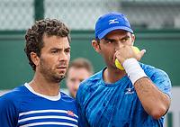 Paris, France, 3 June, 2017, Tennis, French Open, Roland Garros, Men's doubles Horia Tecau (ROU) / Jean-Julien Rojer (NED) (L)<br /> Photo: Henk Koster/tennisimages.com