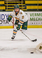 25 November 2016: University of Vermont Catamount Forward Ève-Audrey Picard, a Freshman from Longueuil, Quebec, in action against the Saint Cloud State Huskies at Gutterson Fieldhouse in Burlington, Vermont. The Lady Cats defeated the Huskies 5-1 to take the first game of the 2016 Windjammer Classic Tournament. Mandatory Credit: Ed Wolfstein Photo *** RAW (NEF) Image File Available ***