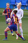 Liga IBERDROLA 2020-2021. Jornada: 18.<br /> FC Barcelona vs R. Madrid: 4-1.<br /> Marta Torrejon vs Sofia Jakobsson.