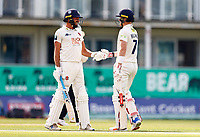Jack Leaning (L) and Sam Billings (R) of Kent mid wicket discussion during Kent CCC vs Worcestershire CCC, LV Insurance County Championship Division 3 Cricket at The Spitfire Ground on 6th September 2021
