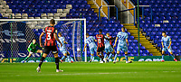 2nd October 2020; St Andrews Stadium, Coventry, West Midlands, England; English Football League Championship Football, Coventry City v AFC Bournemouth; Jefferson Lerma of AFC Bournemouth shoots and scores past Coventry City Goalkeeper Marko Marosi in the 6th minute