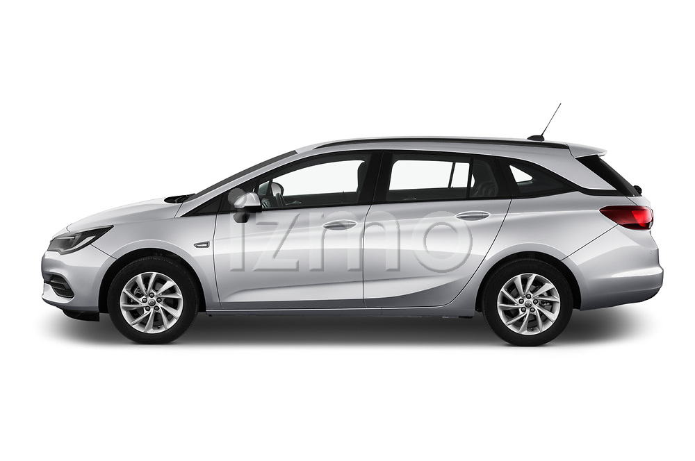 Car Driver side profile view of a 2020 Opel Astra-Sport-Tourer Edition 5 Door Wagon Side View