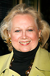 Barbara Cook arriving for the Opening Night Performance  of  CORAM BOY at the Imperial Theatre in New York City.<br />