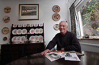 Pictured: Former footballer Kenny Morgans at his home in Swansea,south Wales. Monday 14 November 2011<br /> Re: 72 year old Kenny Morgans (correct) who signed for Manchester United on leaving school in the summer of 1955 <br /> He suffered minor injuries in the Munich air disaster, when still only 18 years old and was found unconscious amongst the debris by two journalists five hours after the official search was called off.<br /> He made a full recovery following the crash but never regained his form on the pitch and later played in the lower divisions for Swansea Town and Newport County before retiring from football in 1967.