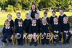 36 b2s Glounaguillagh NS<br /> <br /> The junior Infants class at Glounaguillagh National School, Caragh Lake<br /> <br /> Front L-R: James Phelan,Zach Houlihan, Keelin Doyle, Naidín Quigg, Cillian O'Reilly, Jayden Sheehan<br /> Back L-R: Kayla O'Carroll, Olivia Bruton, Adam Russell, Ivan Morris, Alannah Moriarty, Laoise Moloney, Luke Spillane-Delaney with Teacher/Principal Sinéad Piggott