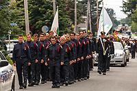 Les funerailles de la mairesse  Lucie Roussel, le 26 juillet 2014, a Laprairie.<br /> <br /> <br /> PHOTO :  Agence Quebec Presse