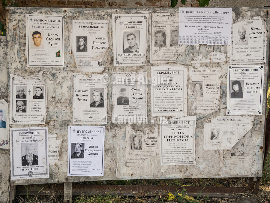 Funeral notices, Mlekarovo, Bulgaria