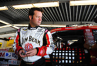 Feb 07, 2009; Daytona Beach, FL, USA; NASCAR Sprint Cup Series driver Robby Gordon during practice for the Daytona 500 at Daytona International Speedway. Mandatory Credit: Mark J. Rebilas-