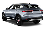 Car pictures of rear three quarter view of 2021 Jaguar F-Pace S 5 Door SUV Angular Rear