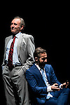 """Philip Rogers and Pepe Ocio during the theater play of """"Debate"""", the comeback to the teather of Toni Canto at Teatros del Canal in Madrid. May 03, 2016. (ALTERPHOTOS/Borja B.Hojas)"""
