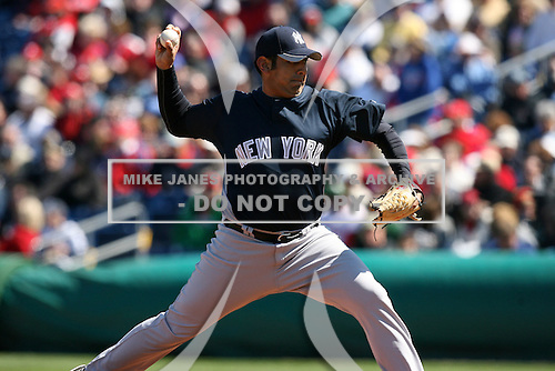 March 4, 2010:  Pitcher Zack Segovia of the New York Yankees during a Spring Training game at Bright House Field in Clearwater, FL.  Photo By Mike Janes/Four Seam Images