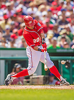 27 July 2013: Washington Nationals shortstop Ian Desmond in action against the New York Mets at Nationals Park in Washington, DC. The Nationals defeated the Mets 4-1. Mandatory Credit: Ed Wolfstein Photo *** RAW (NEF) Image File Available ***