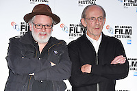 """director, Billy O'Brien and Christopher Lloyd<br /> at the London Film Festival 2016 premiere of """"I am not a Serial Killer"""" at the Odeon Leicester Square, London.<br /> <br /> <br /> ©Ash Knotek  D3174  11/10/2016"""