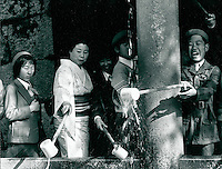 in einem Shinto-Tempel in Kyoto, Japan