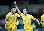 Ross County v St Johnstone…18.02.17     SPFL    Global Energy Stadium, Dingwall<br />Chris Kane celebrates scoring the winning goal for saints with Keith Watson<br />Picture by Graeme Hart.<br />Copyright Perthshire Picture Agency<br />Tel: 01738 623350  Mobile: 07990 594431