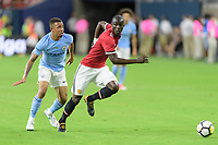 Houston, TX - Thursday July 20, 2017: Gabriel Jesus and Eric Bailly during a match between Manchester United and Manchester City in the 2017 International Champions Cup at NRG Stadium.