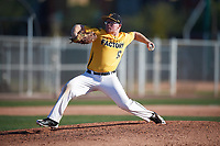 Scott Prieto (10) of Paso Robles High School in Paso Robles, California during the Baseball Factory All-America Pre-Season Tournament, powered by Under Armour, on January 13, 2018 at Sloan Park Complex in Mesa, Arizona.  (Mike Janes/Four Seam Images)