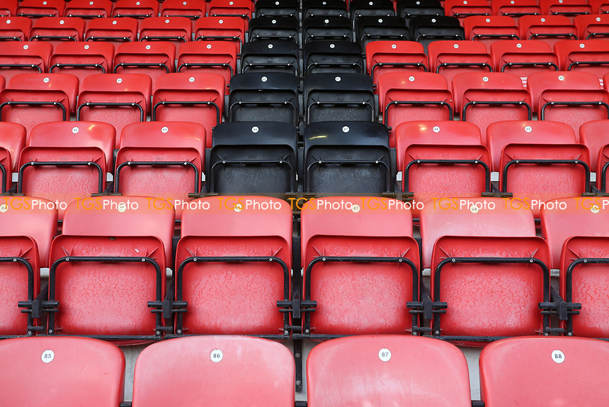 Empty seats around the ground during Leyton Orient vs Crawley Town, Sky Bet EFL League 2 Football at The Breyer Group Stadium on 19th December 2020