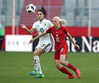 Sara Doorsoun, Katerina Svitkova /   /        /      <br /> /   World Championships Qualifiers women women /  2017/2018 / 07.04.2018 / DFB National Team / GER Germany vs. Czech Republic CZE 180407060 / <br />  *** Local Caption *** © pixathlon<br /> Contact: +49-40-22 63 02 60 , info@pixathlon.de