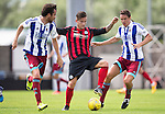 St Johnstone v Real Sociadad...12.07.15  Bayview, Methil (Home of East Fife FC)<br /> Saints trilaist Rhys McCabe with Mikel Gonzalez and Jon Ansotegi<br /> Picture by Graeme Hart.<br /> Copyright Perthshire Picture Agency<br /> Tel: 01738 623350  Mobile: 07990 594431