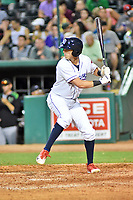 Northern Divisions shortstop Nick Maton (6) of the Lakewood BlueClaws swings at a pitch during the South Atlantic League All Star Game at First National Bank Field on June 19, 2018 in Greensboro, North Carolina. The game Southern Division defeated the Northern Division 9-5. (Tony Farlow/Four Seam Images)
