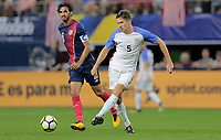 Arlington, TX - Saturday July 22, 2017: Matt Besler during a 2017 Gold Cup Semifinal match between the men's national teams of the United States (USA) and Costa Rica (CRC) at AT&T stadium.