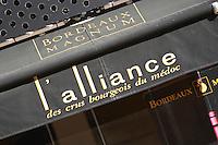 l'alliance des crus bourgeois, wine shop magnum rue gobineau bordeaux france