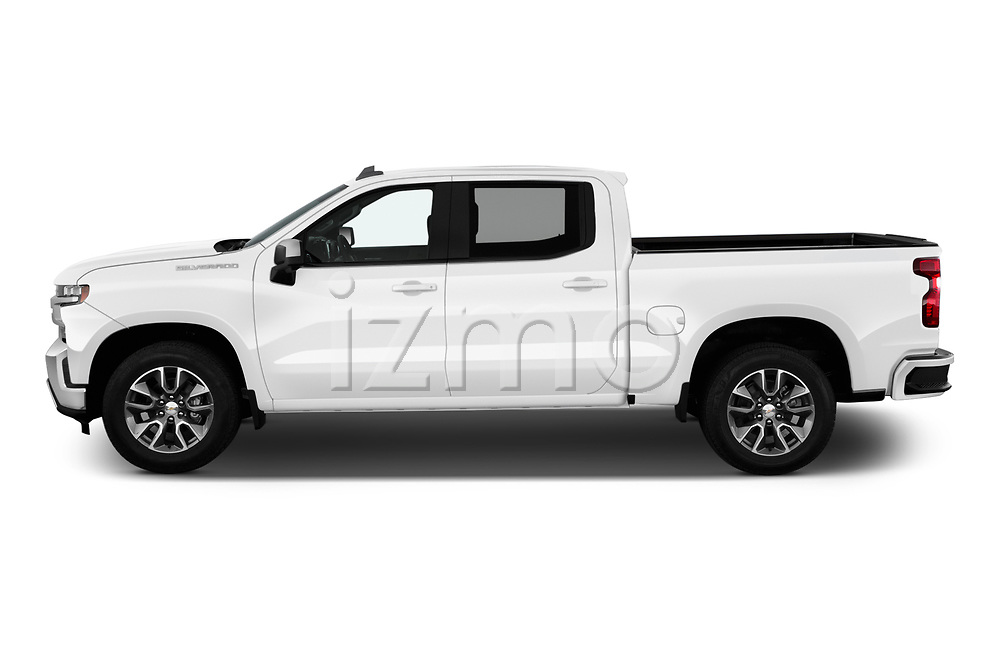 Car Driver side profile view of a 2020 Chevrolet Silverado-1500 LT 4 Door Pick-up Side View