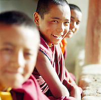 Young monks in Ladakh, India