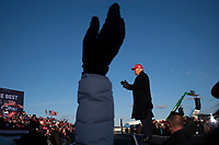 Avoca,PA USA - November 02: President Donald Trump makes a campaign appearance in this crucial swing state on the day before Election Day on November 02, 20120 in Avoca, Pennsylvania, USA. During his speech President Trump strongly suggested again that there would likely be elelctoral fraud  in the city of Philadelphia. (Photo by Stephen Ferry/VIEWpress)