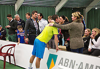 19-01-13, Tennis, Rotterdam, Wildcard for qualification ABNAMROWTT, Jesse Timmermans krijgt een kus