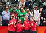 Wales Charlotte Carey, Wales Anna Hursey and Wales Chloe Thomas. with there parents <br /> <br /> *This image must be credited to Ian Cook Sportingwales and can only be used in conjunction with this event only*<br /> <br /> 21st Commonwealth Games - Table tennis -  Day 2 - 06\04\2018 - Oxenford - Gold Coast City - Australia