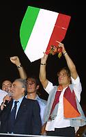 Roma 24 Giugno. Circo Massimo, concerto per la Roma campione d'Italia.<br /> Sensi e Totti