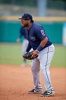 Mobile BayBears first baseman Roberto Pena (21) during a Southern League game against the Montgomery Biscuits on May 2, 2019 at Riverwalk Stadium in Montgomery, Alabama.  Mobile defeated Montgomery 3-1.  (Mike Janes/Four Seam Images)