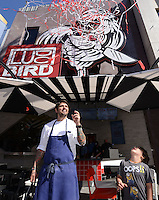 Ludo Lefebvre + son @ the opening of his new restaurant 'LudoBird' held @ the Universal CityWalk.<br /> March 26, 2016